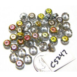 C5247 Czech Glass Faceted Rondelle Beads MAREA  4x7mm