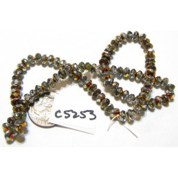 C5253 Czech Glass Faceted Rondelle Beads MAREA  3x5mm