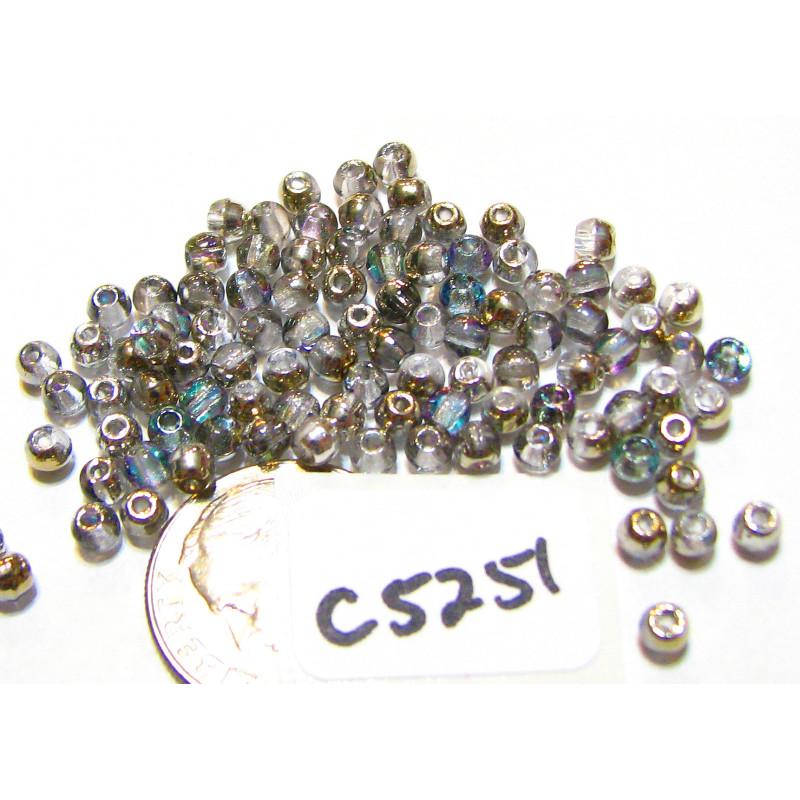C5251 Czech Round Druk Bead LIGHT VITRAIL  3mm