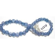 C5278 Czech Glass Hawaiian Flower Bead BLUE  6mm