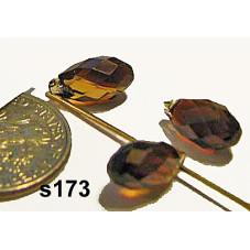 S173 Swarovski Faceted Drop Pendant 6000 TOPAZ BLEND 11x5.5mm