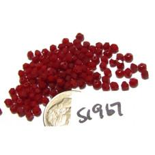 S1967 Swarovski Crystal Bicone Bead DARK RED CORAL 3mm