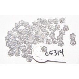 C5314 Czech Glass Forget Me Not Spacer Bead CRYSTAL  5mm