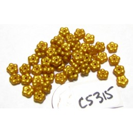 C5315 Czech Glass Forget Me Not Spacer Bead SATIN GOLD  5mm