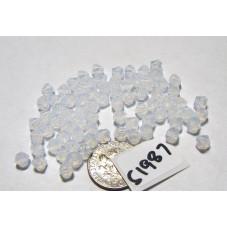 S1987 Swarovski Crystal Bicone Bead WHITE OPAL  5mm