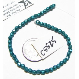 C5525 Czech Glass Faceted Round METALLIC ISLAND PARADISE  3mm