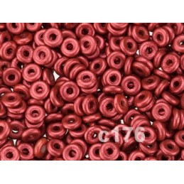 C176 Czech Glass O Ring LAVA RED  3mm