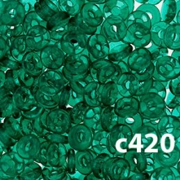 C420 Czech Glass O Ring EMERALD 3mm