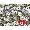 C766 Czech Glass O Ring MATTE CHALK WHITE VALENTINITE 3mm