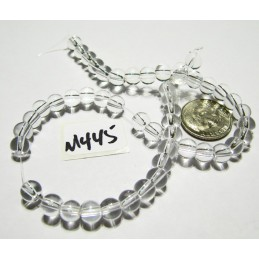 M445 Glass Round Bead CLEAR 6mm