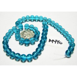 M440 Glass Round Bead AQUAMARINE 6mm