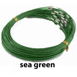 SEA GREEN Stainless Steel Choker Screw Clasp 18 inch