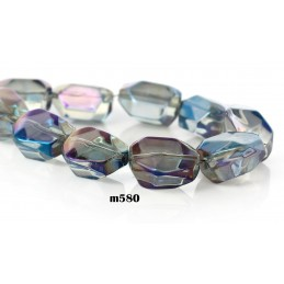 M580 Glass Irregular PURPLE AB TRANS 17X16mm