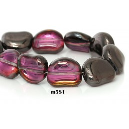 M581 Glass Irregular MULTI TRANS 15X13mm
