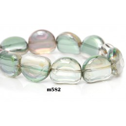 M582 Glass Irregular MULTI TRANS 15x13mm