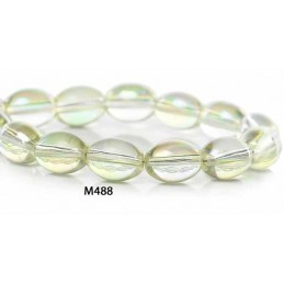 M488 Glass Oval Bead AB TRANS 11mm