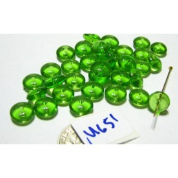 M651 India Glass Rondelle GREEN 8x3mm