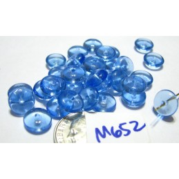 M652 India Glass Rondelle BLUE 8x3mm