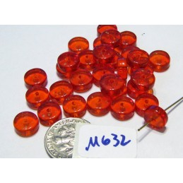 M632 India Glass Heishi Beads RED 8x5mm