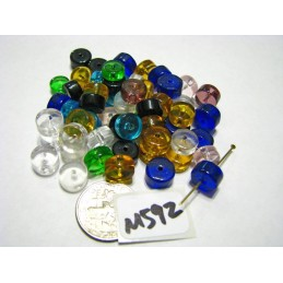 M592 India Glass Heishi Beads MIXED 8x5mm