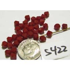 S422 Swarovski Bicone Bead DK RED CORAL 5mm