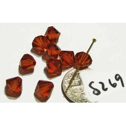 S269 Swarovski Bicone Bead INDIAN RED 8mm