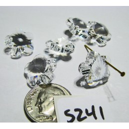 S241 Swarovski Flower Pendant 6744 CRYSTAL 14mm