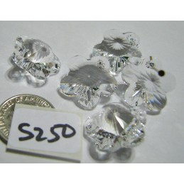 S250 Swarovski Flower Pendant 6744 CRYSTAL 18mm