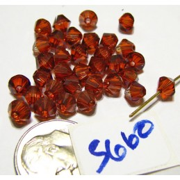 S660 Swarovski Bicone Bead CRYSTAL RED MAGMA  5mm