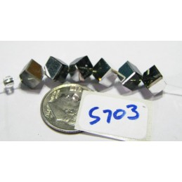 S703 Swarovski 5600 Dice Bead BLACK DIAMOND CAL 6mm