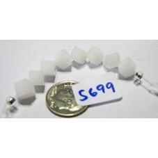 S699 Swarovski 5600 Dice Bead WHITE ALABASTER 6mm
