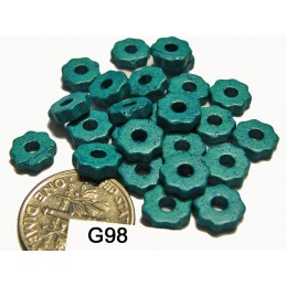 G98 Greek Ceramic Bead Tiny Gear SKY BLUE   6mm