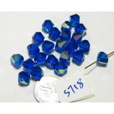 S718 Swarovski Bicone Bead CAPRI BLUE AB 8mm