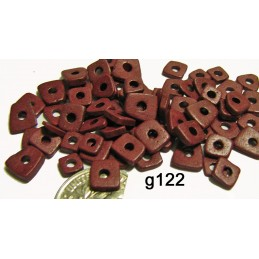 G122 Greek Ceramic Bead Chips GRENADINE 4mm