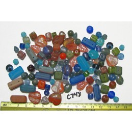 C748 Czech Bead Soup Mix Preciosa MIXED COLOR  6x6mm to 19x17mm
