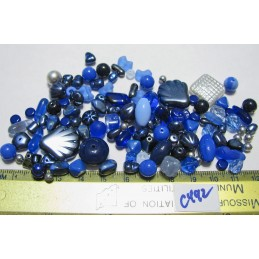 C492 Czech Bead Soup Mix BLUES