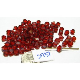 S737 Swarovski Bicone Bead LIGHT SIAM SATIN 6mm