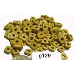 G129 Greek Ceramic Bead Chips SAND  4mm