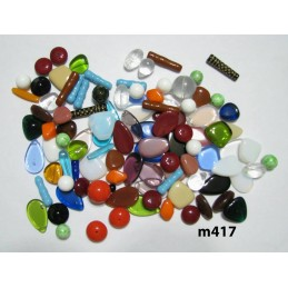 C417b Czech Bead Soup Mix COLOR MIX LARGER BEADS