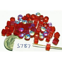 S787 Swarovski Vintage Ripple Beads Item 5240/3 LIGHT SIAM AB   6mm