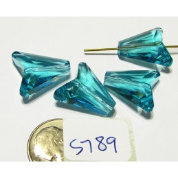S789 Swarovski Arrow Bead Item 5748 LIGHT TURQUOISE 16mm