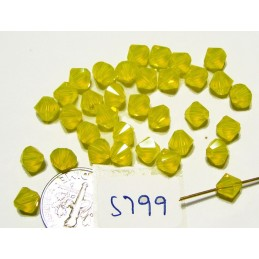 S799 NEW Swarovski Bicone Bead Color YELLOW OPAL 6mm