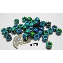 G175 Greek Ceramic Bead Tube AGEAN MIX  6x4mm