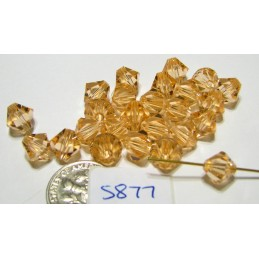 S877 Swarovski Bicone Bead LIGHT PEACH  8mm
