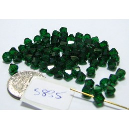 S885 Swarovski Bicone Bead MEDIUM EMERALD  5mm