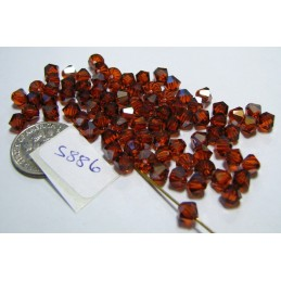 S886 Swarovski Bicone Bead INDIAN RED SATIN 5mm