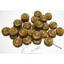 C1507 Czech Glass Hawaian Flower Bead OPAL TAN 14mm
