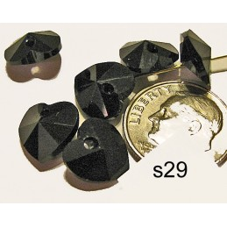 S29 Swarovski Heart Pendant 6202  JET  10mm