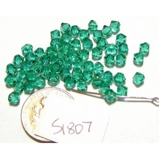 S1807 Swarovski Crystal Bicone Bead LIGHT EMERALD 4mm