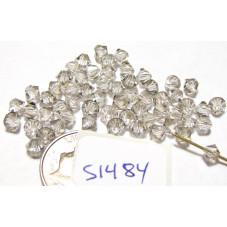 S1484 Swarovski Crystal Bicone Bead SILVER SHADE 4mm